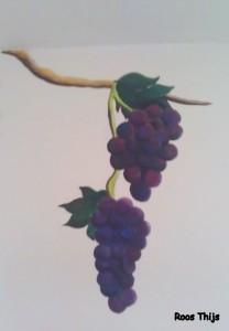 druiven muurschildering