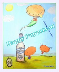 happy puppets geboortekaartje poster janne expo web