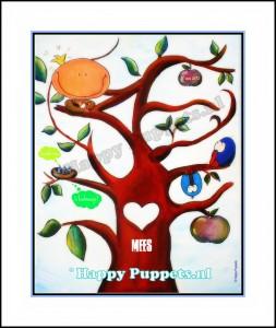 happy puppets geboortekaartje poster mees expo web